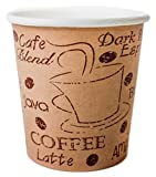 Z-ware Disposable Espresso Coffee Cups - 4 Ounce - Café Design to Go Hot Cup - The Perfect Gift for The Espresso Lover in Your Life - 200 Count